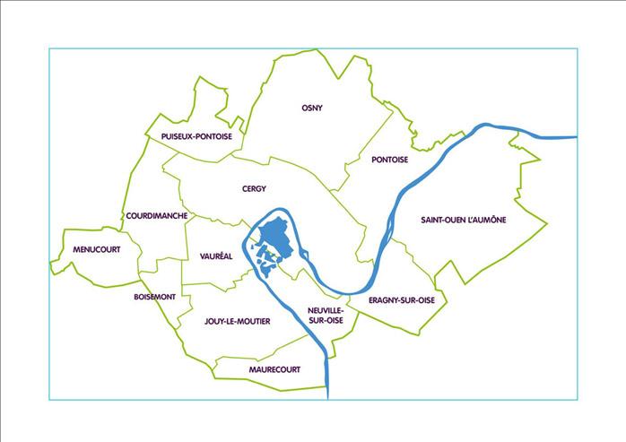 Carte des 13 communes